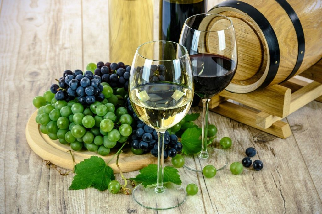 Różne rodzaje wina